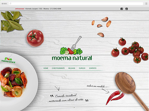 Criação de Sites - Moema Natural
